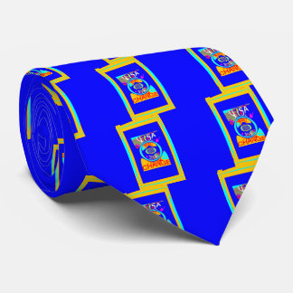 USA Hillary Change Pattern Stronger Together art Neck Tie