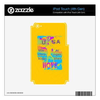 USA Hillary Hope Stronger Together iPod Touch 4G Skins