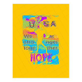 USA Hillary Hope Stronger Together Postcard