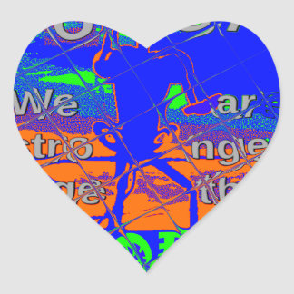 USA Hillary Hope We Are Stronger Heart Sticker