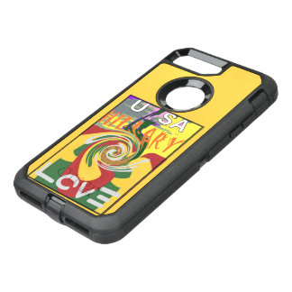 USA Hillary peace hope love stronger together OtterBox Defender iPhone 7 Plus Case