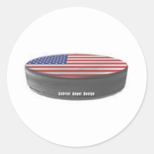 USA Hockey Classic Round Sticker