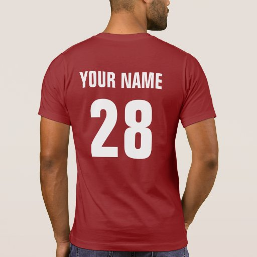 Usa hockey t shirt with name number print zazzle for Print name on shirt