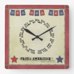 USA Home Of The Brave Land Of The Free Wallclock