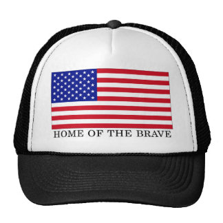 USA Home Of The Brave Trucker Hat
