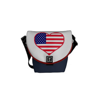USA I Love America Messenger Bag