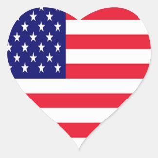 USA I Love America Heart Sticker