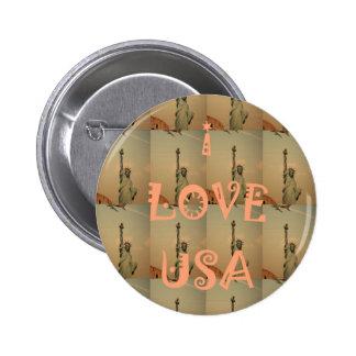 USA. I Love Pinback Button