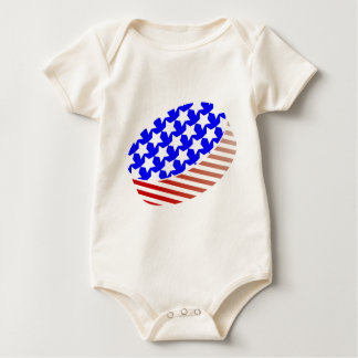 USA Icehockey puck Baby Bodysuit