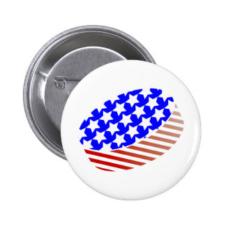 USA Icehockey puck Pinback Button
