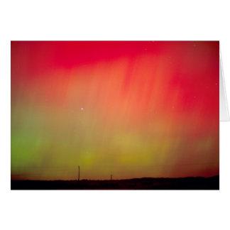 USA, Idaho. Aurora borealis, northern lights at 2 Greeting Card