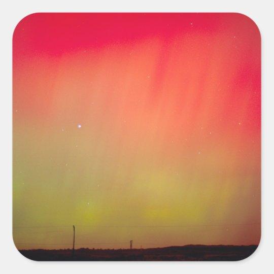 USA, Idaho. Aurora borealis, northern lights at 2 Square Sticker