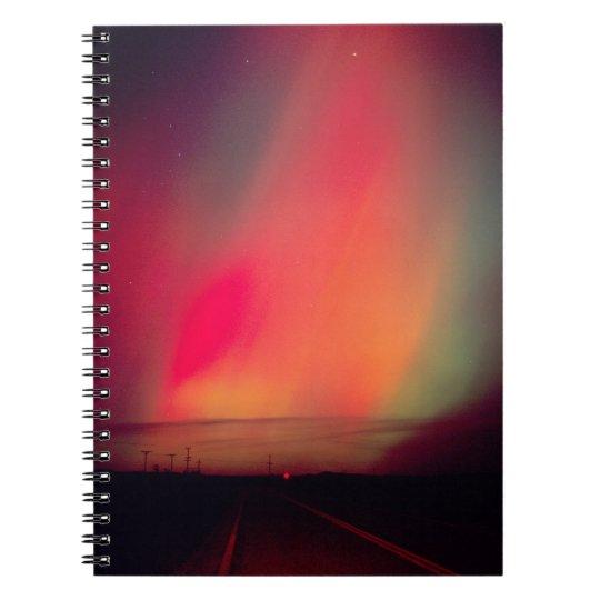 USA, Idaho. Aurora borealis, northern lights at Notebook