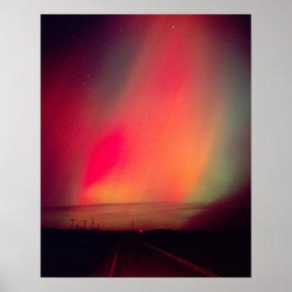 USA, Idaho. Aurora borealis, northern lights at Poster