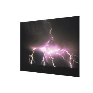 USA, Idaho. Lightning. Canvas Print
