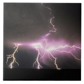 USA, Idaho. Lightning. Ceramic Tile