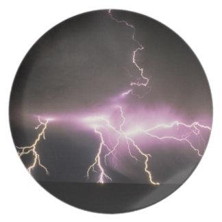 USA, Idaho. Lightning. Dinner Plates