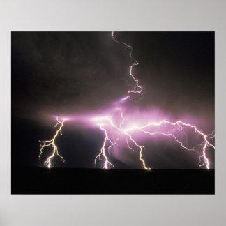 USA, Idaho. Lightning. Poster