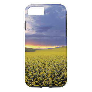 USA, Idaho, Swan Valley. A fiery sunset erupts iPhone 8/7 Case