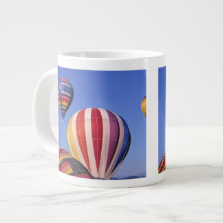 USA, Idaho, Teton Valley. Colorful hot-air Giant Coffee Mug