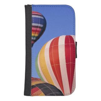 USA, Idaho, Teton Valley. Colorful hot-air Phone Wallet