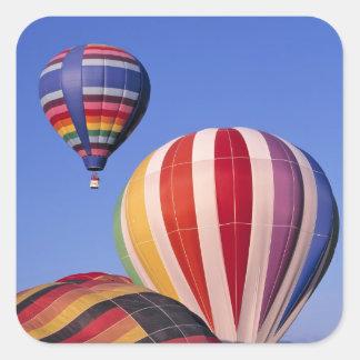 USA, Idaho, Teton Valley. Colorful hot-air Square Sticker
