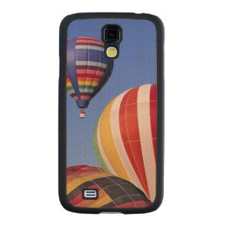 USA, Idaho, Teton Valley. Colorful hot-air Carved® Maple Galaxy S4 Slim Case