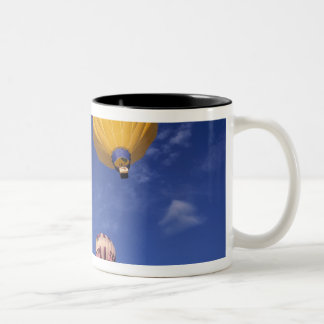 USA, Idaho, Teton Valley. Hot-air balloons Two-Tone Coffee Mug