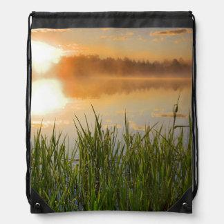 USA, Idaho, Winchester Lake State Park, Lapwai Drawstring Backpack
