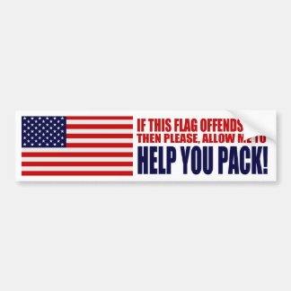 USA If This Flag Offends You Car Bumper Sticker