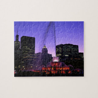 USA, IL, Chicago. Buckingham Fountain in Grant Jigsaw Puzzle