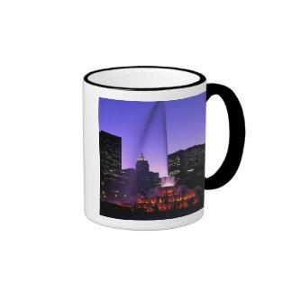 USA, IL, Chicago. Buckingham Fountain in Grant Ringer Coffee Mug