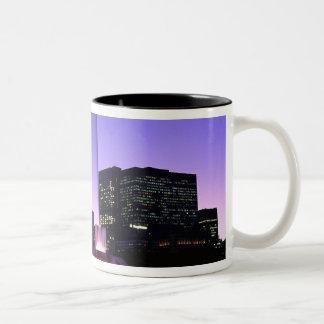 USA, IL, Chicago. Buckingham Fountain in Grant Two-Tone Coffee Mug
