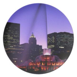 USA, IL, Chicago. Buckingham Fountain in Grant Plate