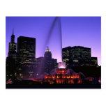USA, IL, Chicago. Buckingham Fountain in Grant Postcard