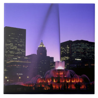 USA, IL, Chicago. Buckingham Fountain in Grant Tile