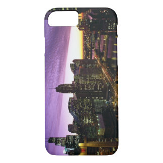 USA, IL, Chicago. Chicago skyline and river iPhone 7 Case