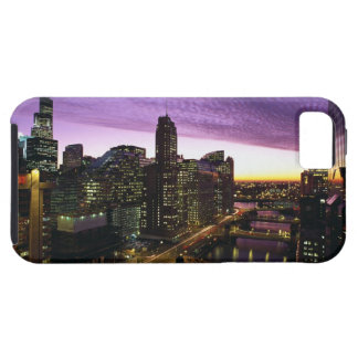 USA, IL, Chicago. Chicago skyline and river iPhone SE/5/5s Case