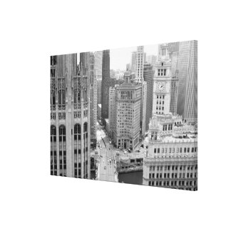 USA, IL, Chicago, Loop from Hotel Stretched Canvas Prints