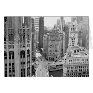 USA, IL, Chicago, Loop from Hotel Greeting Card