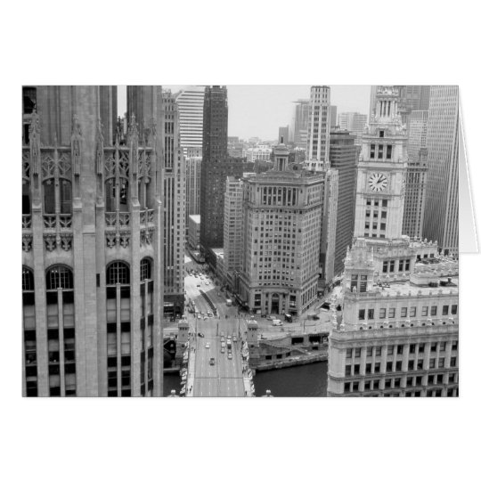 USA, IL, Chicago, Loop from Hotel Card