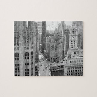 USA, IL, Chicago, Loop from Hotel Jigsaw Puzzle