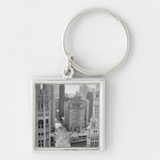 USA, IL, Chicago, Loop from Hotel Key Chains