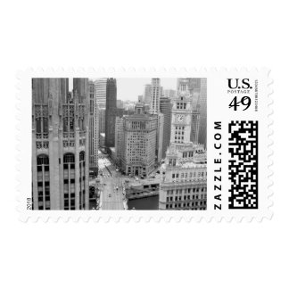 USA, IL, Chicago, Loop from Hotel Postage