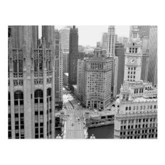 USA, IL, Chicago, Loop from Hotel Postcard