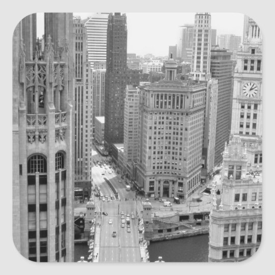 USA, IL, Chicago, Loop from Hotel Square Sticker