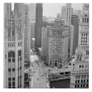 USA, IL, Chicago, Loop from Hotel Ceramic Tiles
