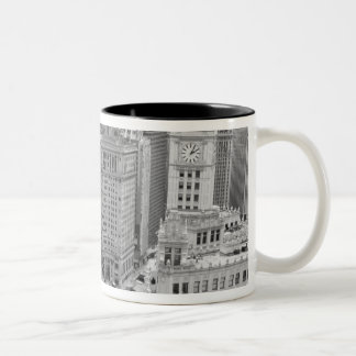 USA, IL, Chicago, Loop from Hotel Two-Tone Coffee Mug