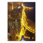 USA, Illinois, aerial view of Chicago at dusk Card