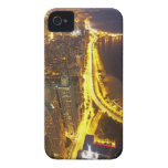 USA, Illinois, aerial view of Chicago at dusk iPhone 4 Cases